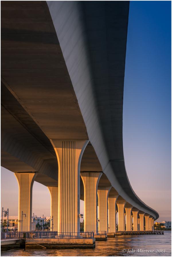 Bridge over St Lucia River in Stuart, Florida, USA