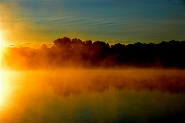 le lac ce matin