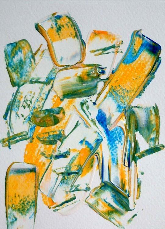 Ma première peinture abstraite, en 2009