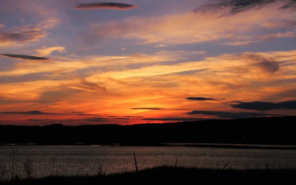 coucher de soleil à Barachois