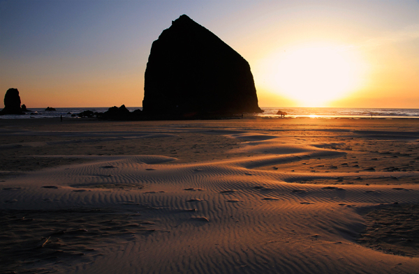 Sunset à Cannon Beach