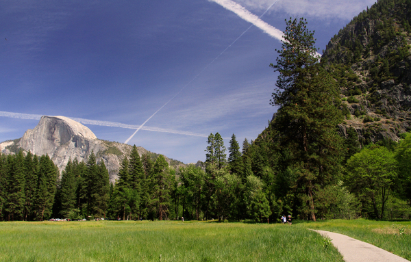 the sky in Yosemite