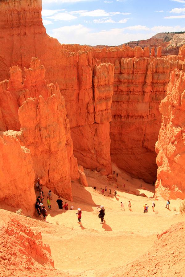 descente dans le canyon