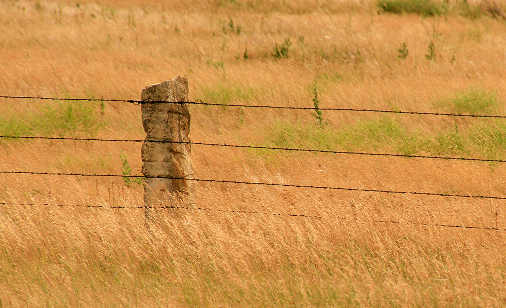 stone post in Kansas