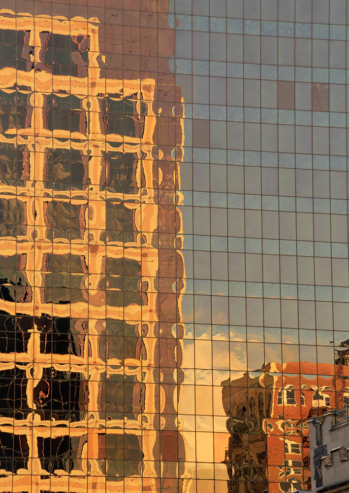 reflection on glass