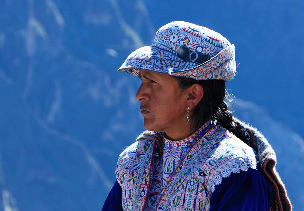 Woman in Canyon de Colca