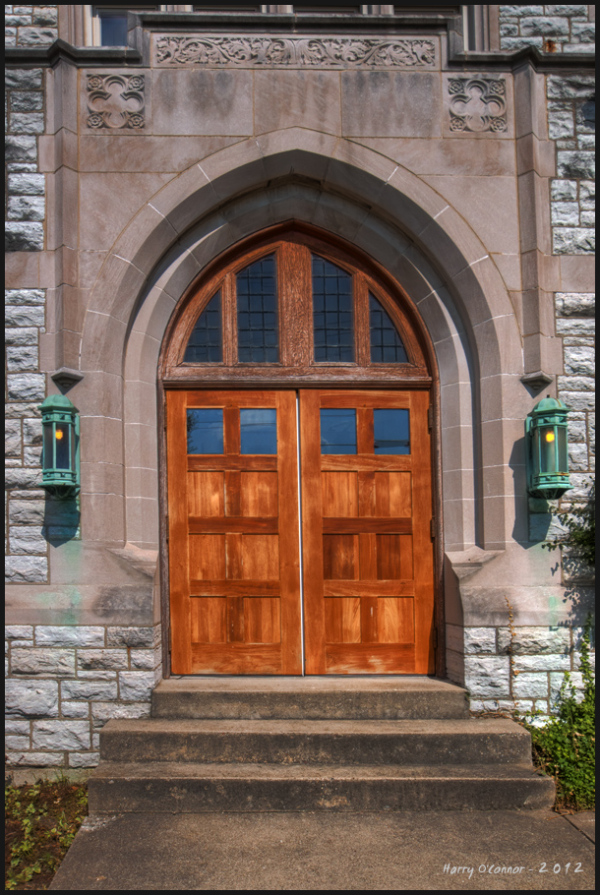 Westwood Methodist Church Door