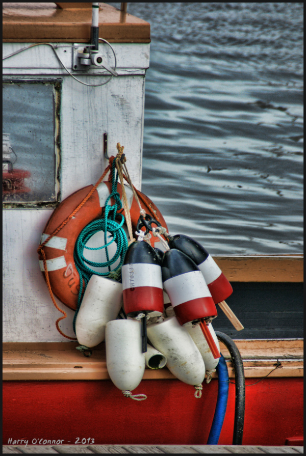 Lobster floats and life preserver