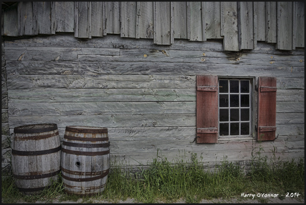 Barrels and window