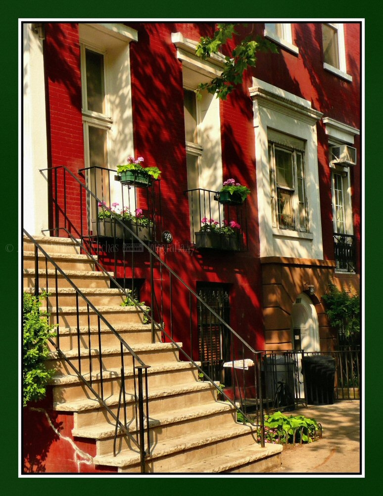 Lovely dark-red townhome in East Village.