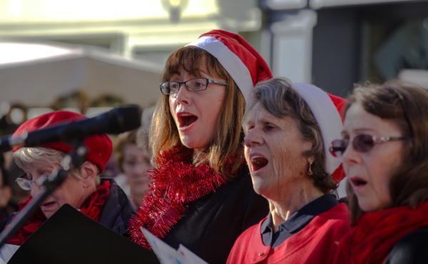 La chorale au marché de Noël 2