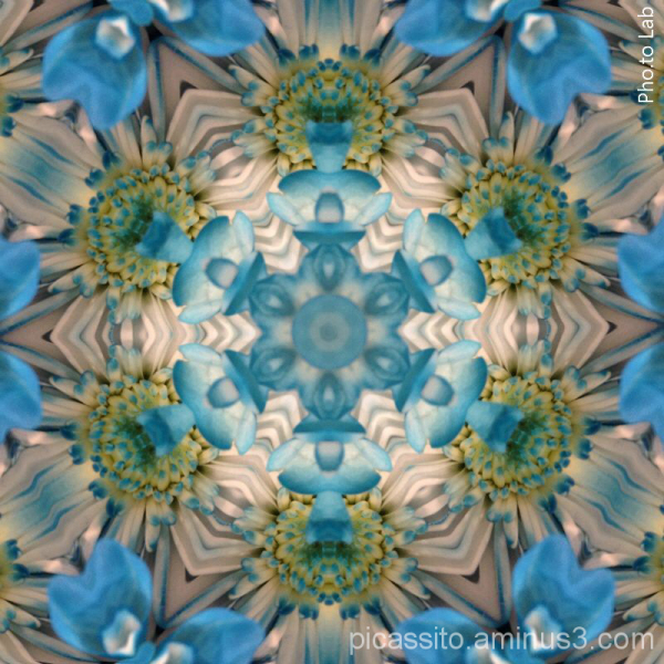 Kaleidescope in Blue