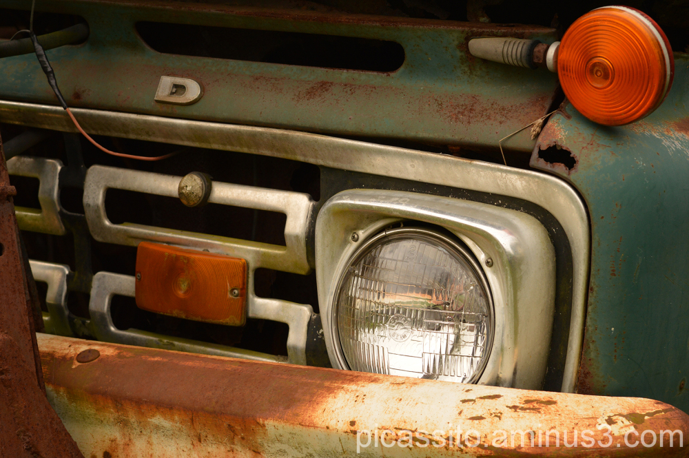 Rusted Front End of An Old Ford