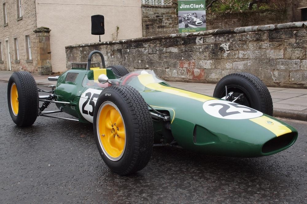 Lotus 25 at the Jim Clark Room