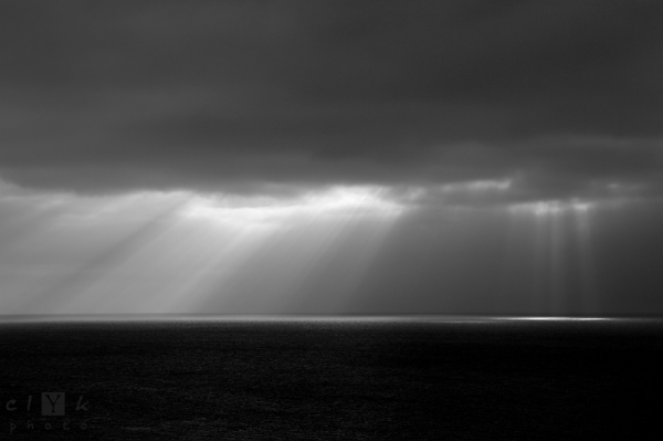 clyk sea clouds light ocean lumière