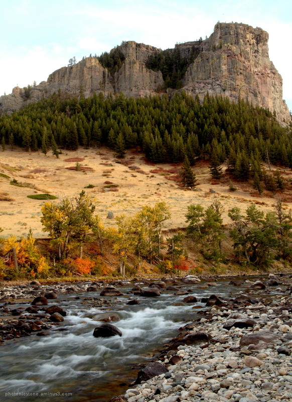 Castle Rock over the Stillwater - Montana 10-2012