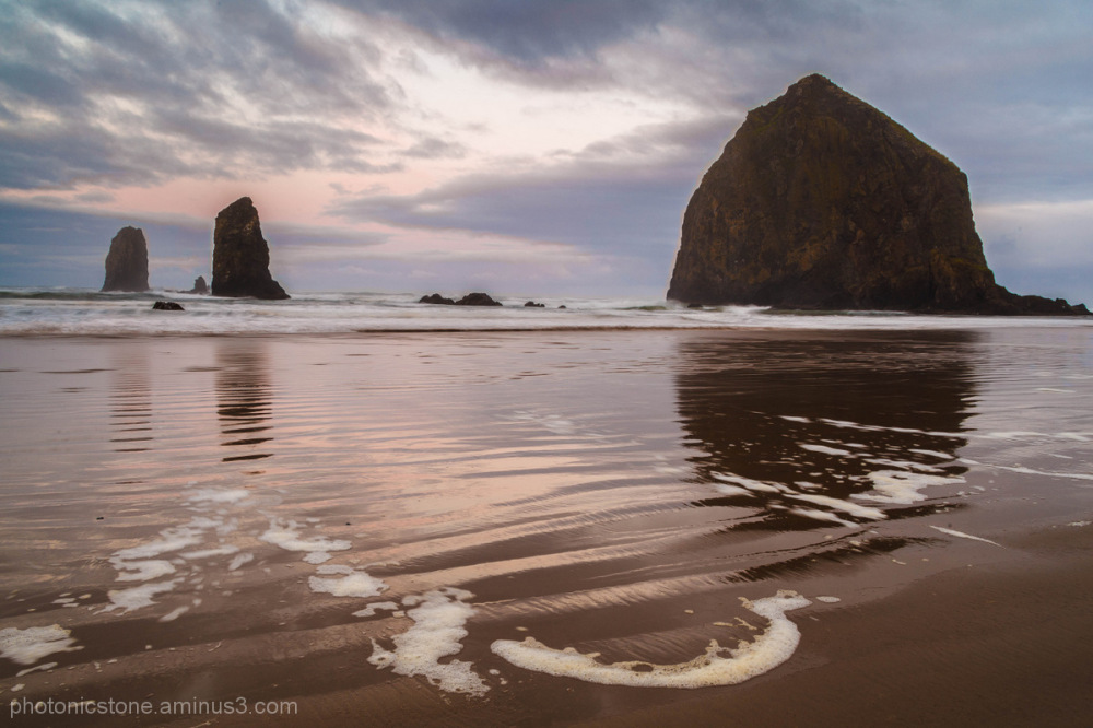 Sunrise at Cannon Beach Oregon - Haystack Rock