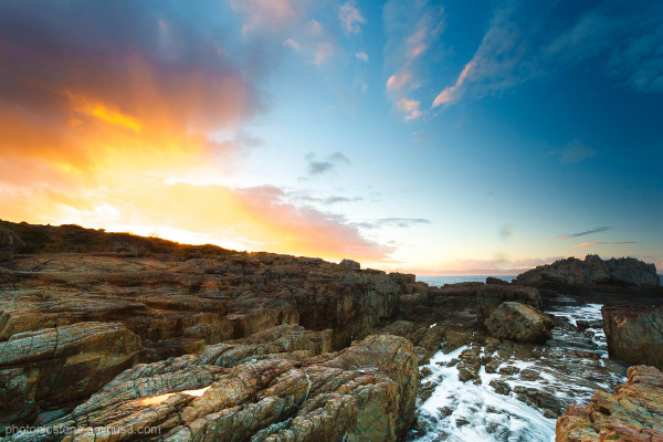 Rocks on Hermanus Coastline, Sunrise