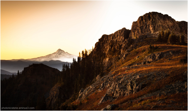 Morning light on Silver Star Mountain