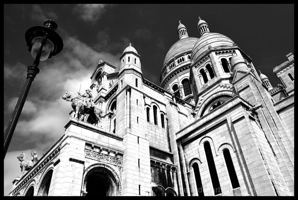 La Sacré Coeur dans le quartier Montmartre à Paris