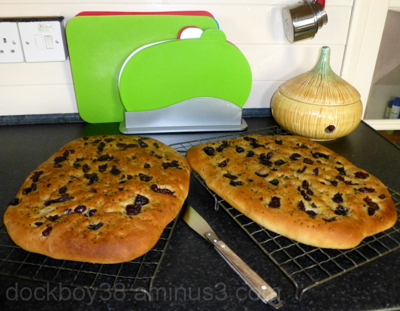 Olive And Rosemary Focaccia .