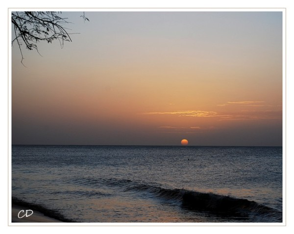 Coucher de soleil sur les Caraïbes