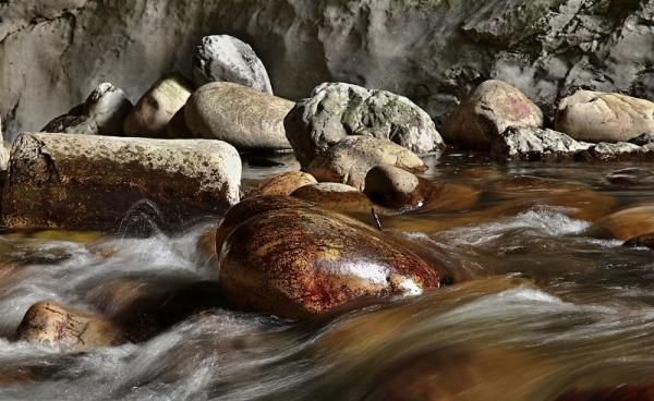 Stone, water