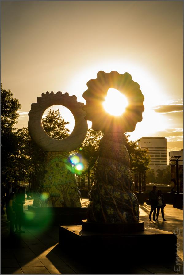 Sculpture at Sunset