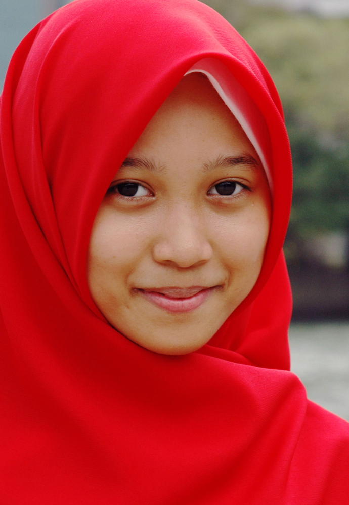 Girl in a Red Shawl