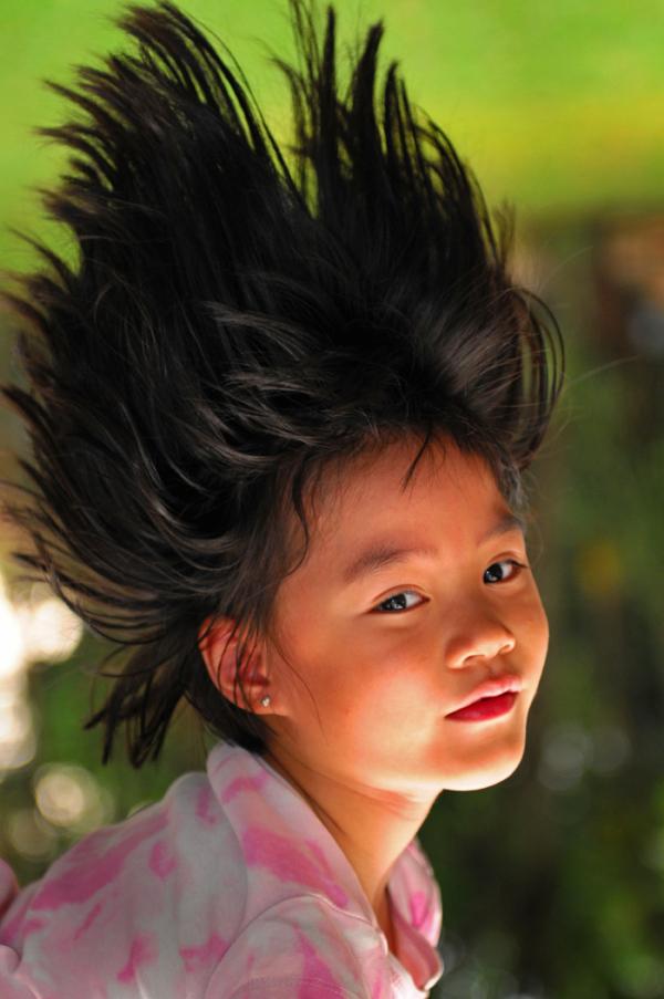 girl hair upside-down downside-up