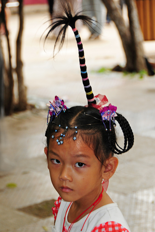 girl hairstyle coconut tree