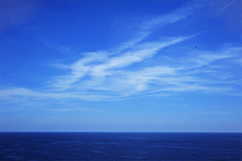 seascape sky clouds sea ocean