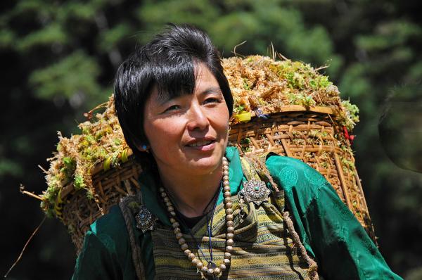 Bhutan farmer woman