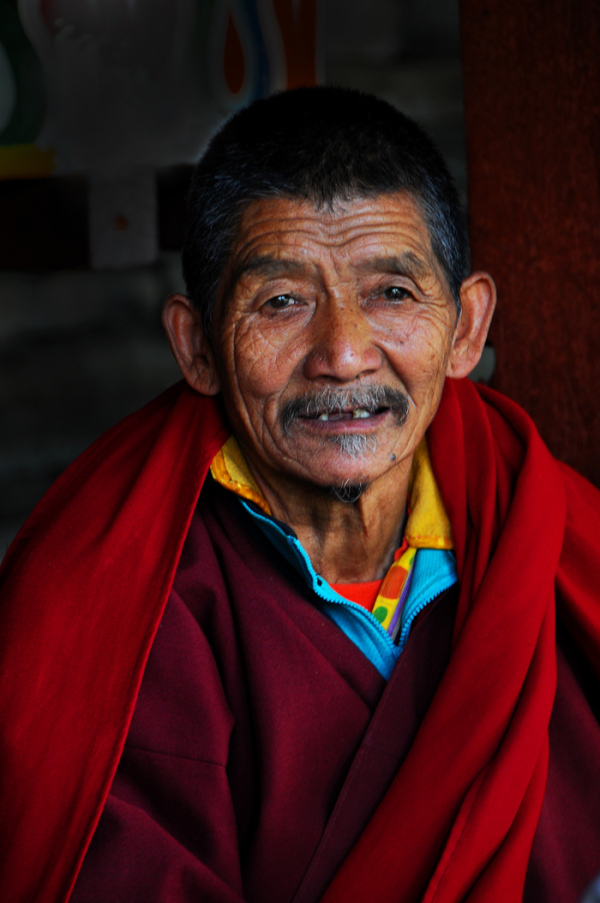 Man in Maroon Robe (Bhutan)