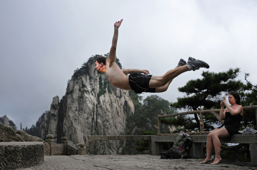 Airborne on Huangshan