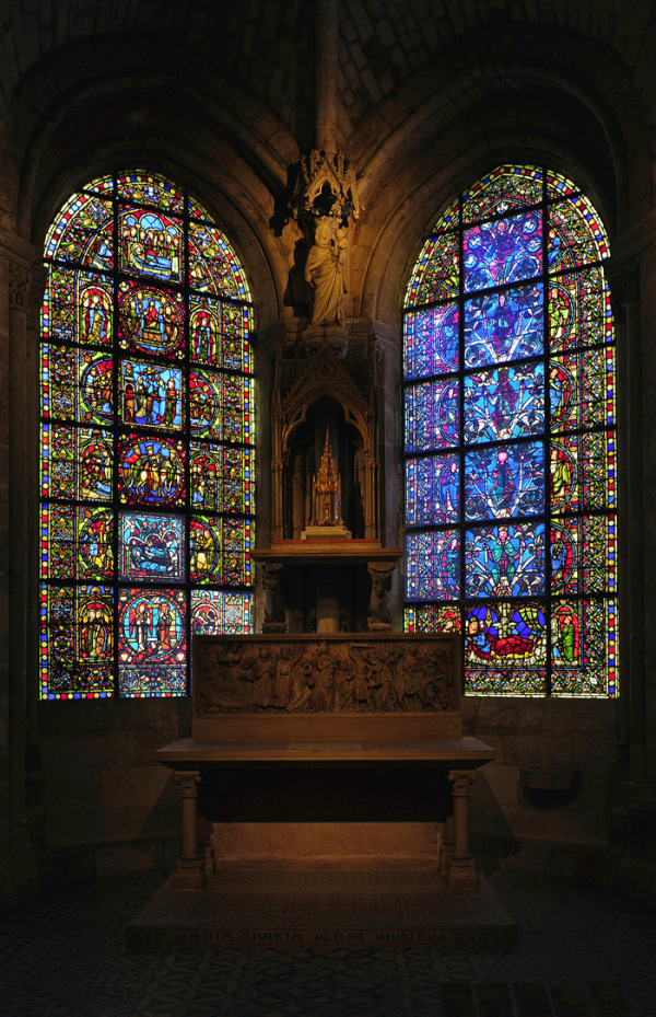 Stained Glass at St Denis Cathedral, Paris