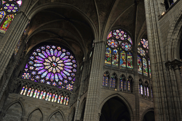 Rose Window at St Denis Cathedral, Paris