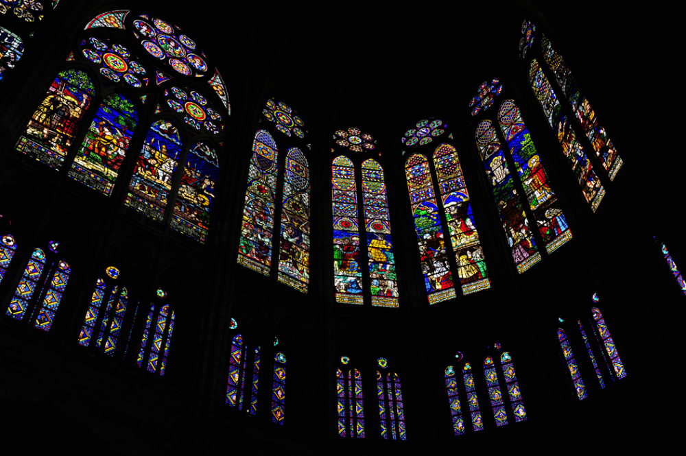 Stained Glass Windows - St Denis Cathedral, Paris