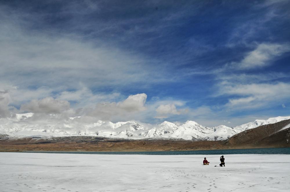 Frozen Lake Karakul - near China-Pakistan Border