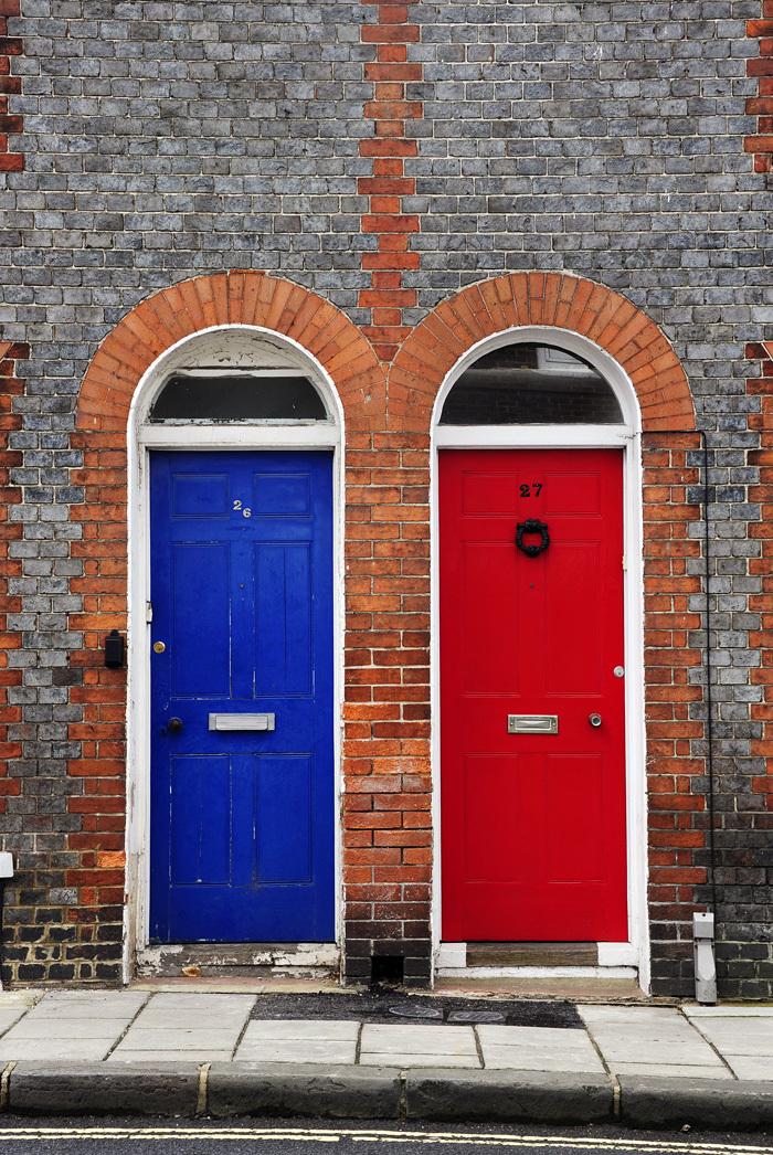 Blue & Red Doors