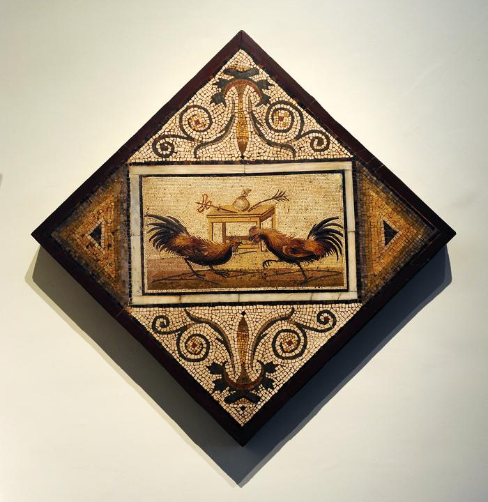 Ancient Roman Mosaic - Cockfighting