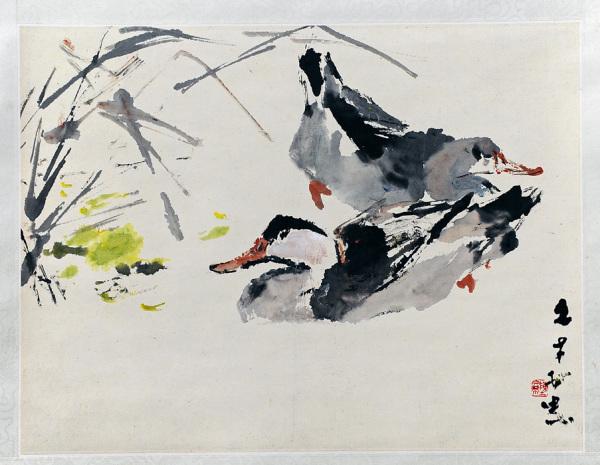 Chen Wen Hsi Painting - Ducks