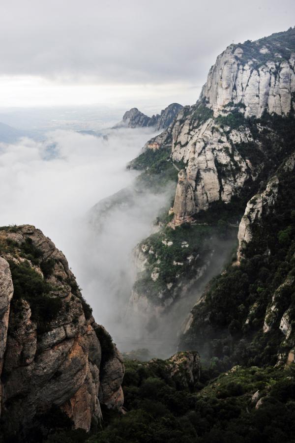 Montserrat in Morning Mist