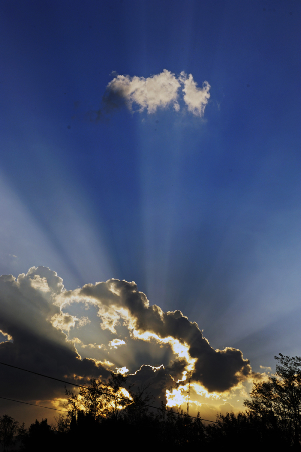 Silver Lining & Rays of the Setting Sun