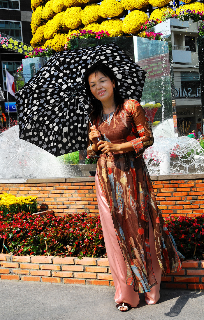 Vietnamese Lady with Umbrella