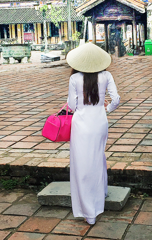 Vietnamese Girl in White