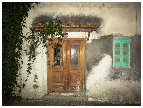 House entrance at Koroni, Greece