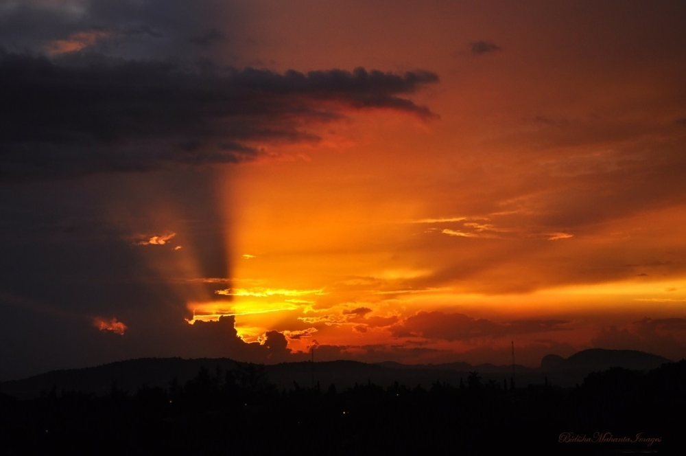 Sunset over Zuma Rock Abuja Nigeria Africa