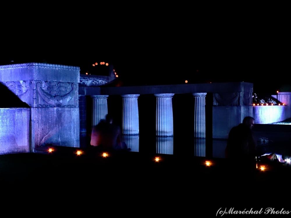 Illuminated at night