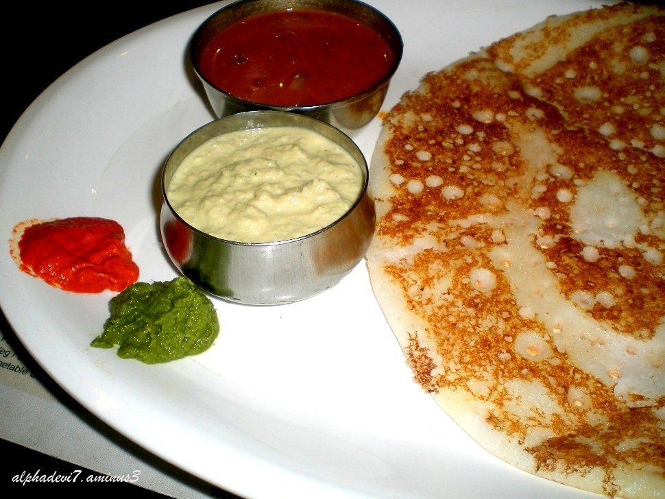 Relish the dosa...